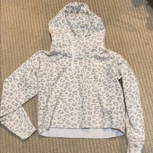 Abercrombie Cropped Leopard Hoodie